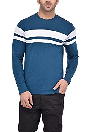 4cab0fff4b5 BI FASHION Stylish Men s Roundneck Full Sleeve T-Shirt New Men s Cotton Designer  T-Shirt  Amazon.in  Clothing   Accessories