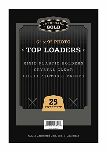 250 CBG Pro Top Loaders Toploaders Cardboard Gold 6x9 PHOTO Case - Sealed- KEEPS Photos Memorabilia and Oversized CARDS ULTRA PROTECTED-FULL CASE by Cardboard Gold (Image #1)