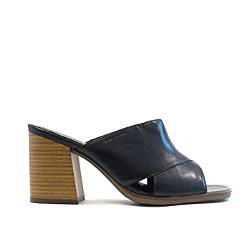 Vagabond Lea Black leather mid heel mule  UK 3   EU 36  Amazon.co.uk ... d53235c796