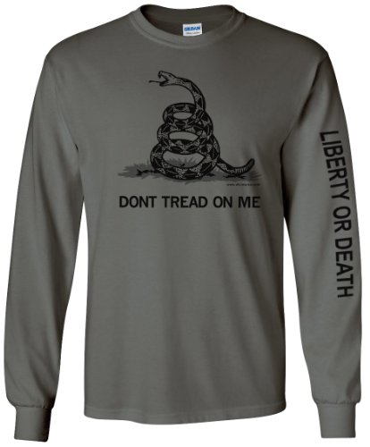 Charcoal Don't Tread On Me Longsleeve T-Shirt - Large (Dont Tread)
