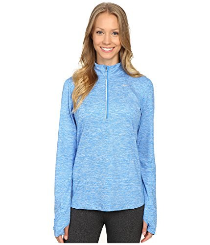 Womens Nike Dry Element Running Top - Light Photo Blue/Heather - Size Large