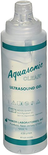 Parker Laboratories 42012.0 Ultrasound Gel, 0.25 L Capacity (Pack of 12) (Aquasonic Clear Ultrasound Gel)