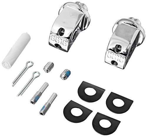Footpeg Rear Adapters - Kuryakyn 8818 Splined Male Mount Peg Adapters for Front/Rear Footpegs and Floorboards: Honda, Suzuki, Triumph, Yamaha Motorcycles, Chrome, 1 Pair