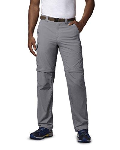 Columbia Men's Silver Ridge Convertible Pants, Grey, 34x28