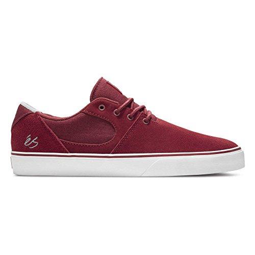 ES Accel SQ Skate zapatos en rojo/blanco BURGUNDY/WHITE