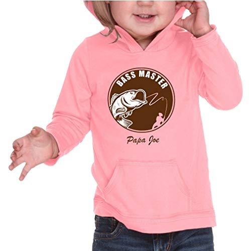 (Personalized Custom Bass Master Fishing Long Sleeve Hooded Infant Boys-Girls Cotton/Polyester RawEdge Hoodie Sweatshirt - Flamingo, 24 Months)
