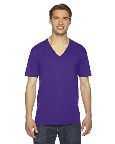 Clementine American Apparel Fine Jersey Short-Sleeve V-Neck () Purple, XL