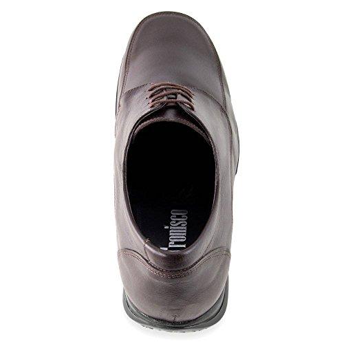 Scarpe con Rialzo da Uomo Che Aumentano l'Altezza Fino a 7 cm. Fabbricate in Pelle. Modello Flex Nature C Marrone De Alta Calidad Para La Venta 51RhXMU9i