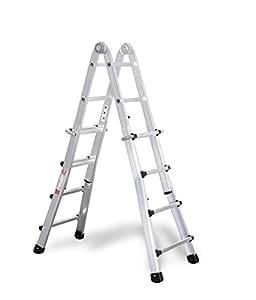 Aluminio–Vario––Escalera plegable 4x 4peldaños