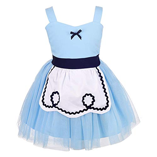 F1rst Rate Dress for Baby Toddler Girls Halloween Fancy Party Costume Outfit Costume(Blue-4)