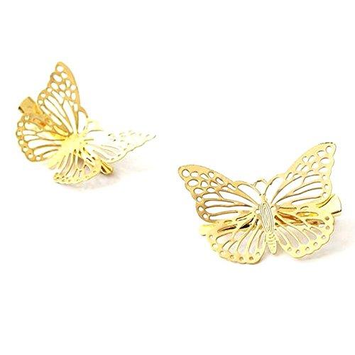 (CJESLNA Golden Butterfly Hair Clip Headband Hair Accessories)
