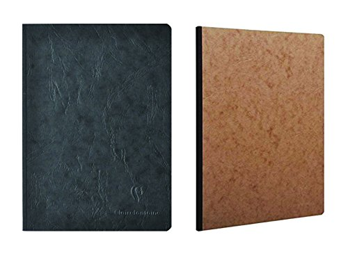(Pack of 2 Clairefontaine Basic Large Clothbound Notebook (8 1/4