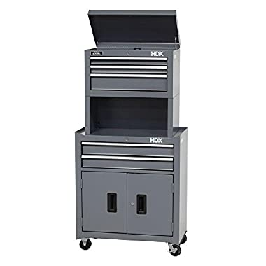 26 in. 5-Drawer Tool Chest and Cabinet Combo with Riser