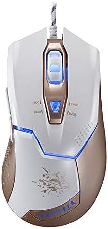 Length: 1.8m Black Happyshopping M100R USB Optical Mouse V15 USB 2400DPI Four-Speed Adjustable Asymmetric Wired Optical Gaming Mouse with LED Breathing Light Ergonomically Designed. Color : Black