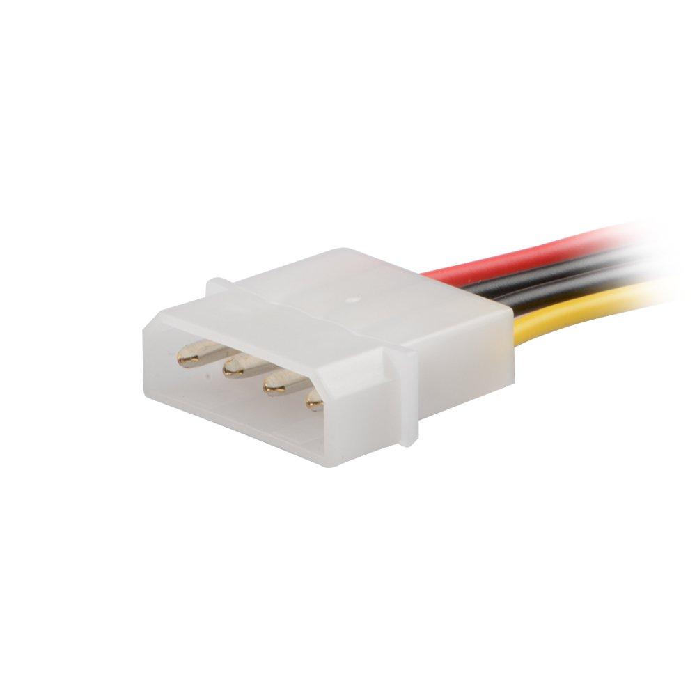 3 Paquete ] J&D SATA 15 pines a 4 pines LP4 Molex adaptador de cable ...