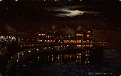 Saltair at night Salt Lake City, Utah Original Vintage Postcard by CardCow Vintage Postcards