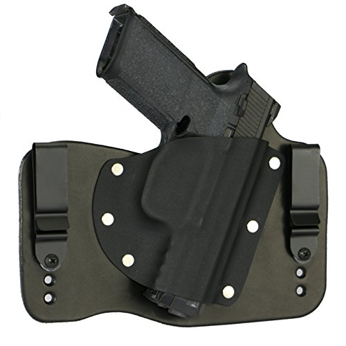 FoxX Holsters FNH FNS 9/40 in The Waistband Hybrid Holster Tuckable, Concealed Carry Gun Holster (Black)
