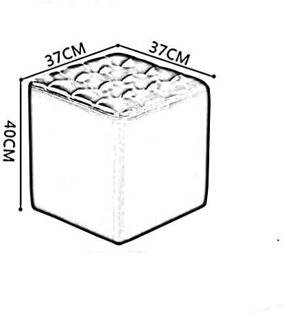 YUMUO Pouf Pouf Cube Pouf capitonné Moderne Pouf en Cuir Salon Chambre Petit Tabouret (Couleur: # 4)