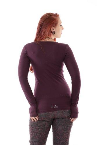 individual Altos Camiseta Camisa Of Prairie Moda Manga T The Gris larga mujer Girl shirt 3elfen Negro estampados Elf 5x0pwqw