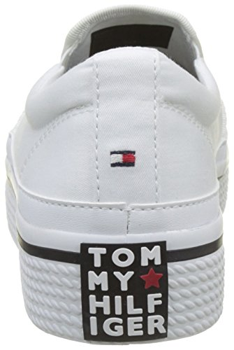Tommy Hilfiger Damen Tommy Paillettes Flatform Weiss De Chaussure (blanc 100)