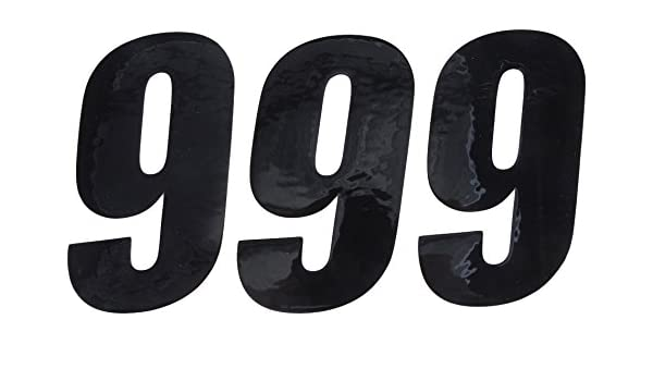 Dcor Visuals 45-26-9 Number 9 3 Pack D/'cor Visuals Black 6