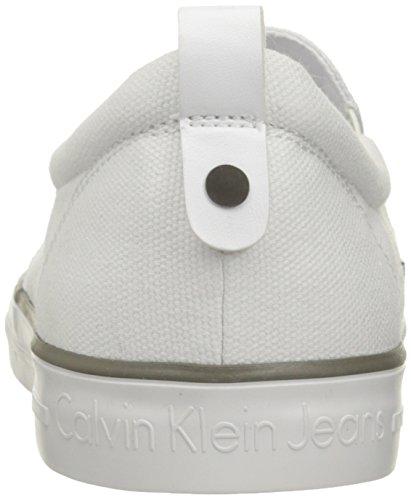 Calvin Klein Armand Canvas, Zapatillas Bajas para Hombre Blanco (white)