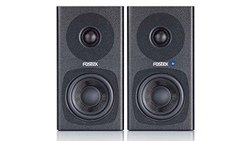 Fostex PMO.3B 3-Inch 2-Way Powered Digital Speaker System, Black, Set of (Fostex Studio)