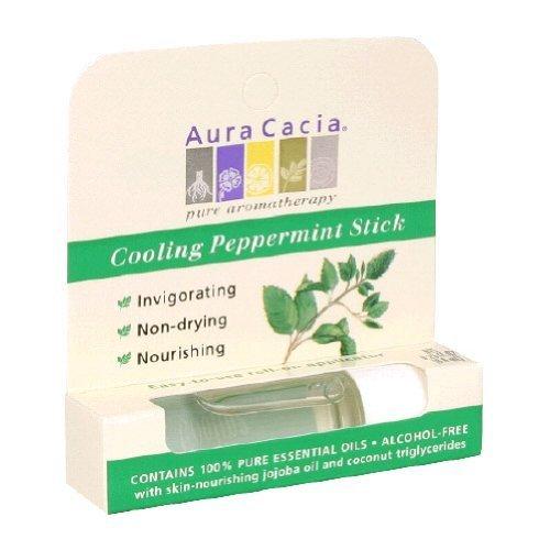 Aura Cacia Aromatherapy Stick Cooling Peppermint 0.29 Ounces by Aura Cacia