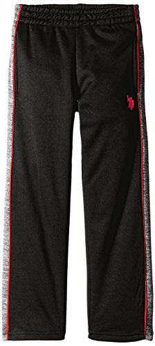 U.S. Polo Assn. Little Boys' Fleece Athletic Pant, Engine Red, 4