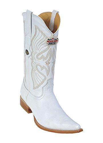 Genuine Toe White Skin Western Altos Los Boots Men's Deer Leather 3X nqx6TxU