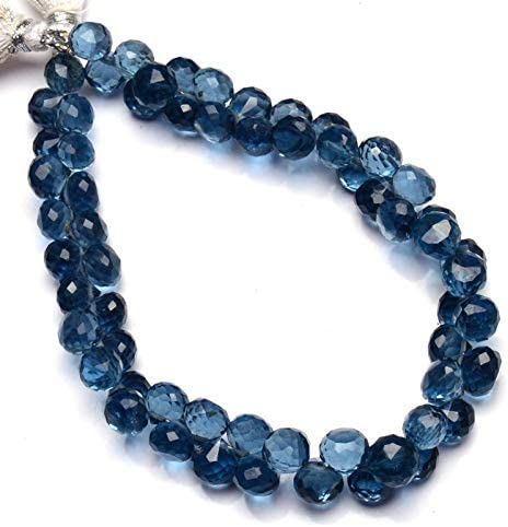 1 Strand 6-8mm Aqua Blue Chalcedony Faceted Cube Beads Strand Beads Strand Approx 8inch long.