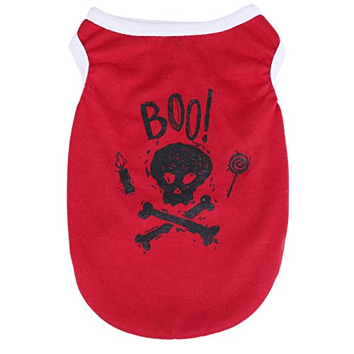 (Asixx Pet Vest, Pet Vest Harness or Halloween Pet Vest, Dog Costume Soft and Comfortable Clothes Delicate Stitching and Workmanship Vest(Red,)