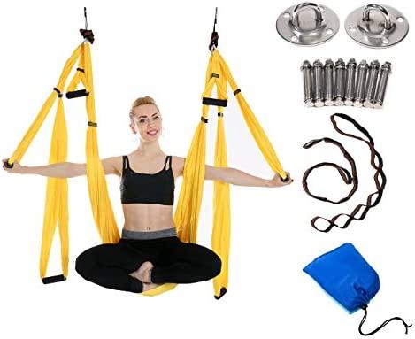 JIALFA Aerial Hamaca de Yoga,Yoga Swing para Yoga antigravedad, Ejercicios de inversión, Flexibilidad Mejorada y Resistencia del núcleo - Accesorios ...