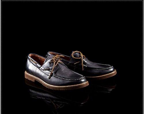 LEDLFIE Chaussures Décontractées Chaussures Mode Homme Dentelle Chaussures Sauvages blue 2TXHwM4