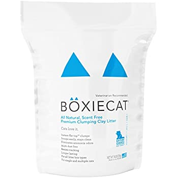 Boxiecat Premium Clumping Clay Cat Litter, 16-pounds
