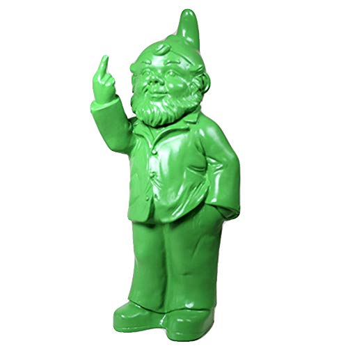 Ottmar Hörl - Gnome Sculpture - Molded Plastic - 14.5 x 6.1 x 4.9 inches | Middle Finger ()