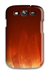 Fashion Tpu Case For Galaxy S3- Golden Flame Defender Case Cover