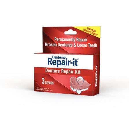 D.O.C. Repair-It Denture Repair Kit, 3 Repairs, Kit