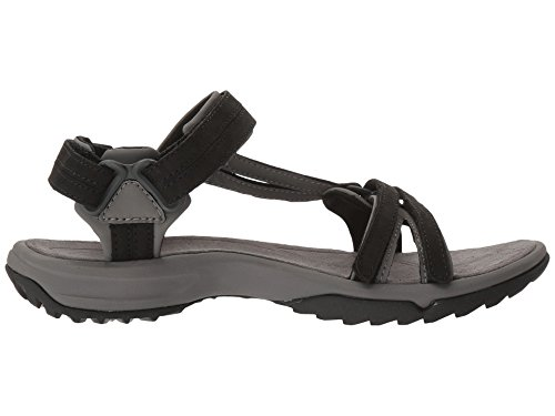 Teva Terra Fi Lite Leather Sandal Women's Hiking 6.5 Black by Teva