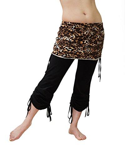 Suhaila Salimpour Signature Scrunchy Pants (Large, Leopard) ()