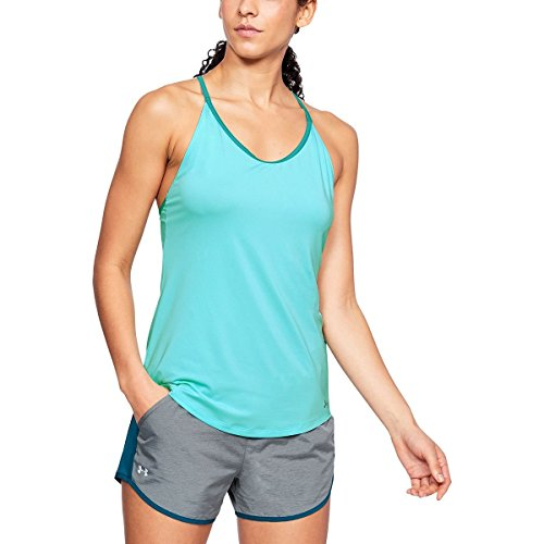 Under Armour Womens Speed Strike Tank, Tropical Tide/Reflective, (Armor Apparel)