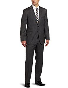 B0094GXDAK Joseph Abboud Men's Suit with Flat Front Pant, Grey, 40 Short