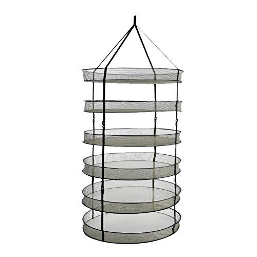 6 Layer Foldable Drying Net Detachable Herb Dry Rack Hanging