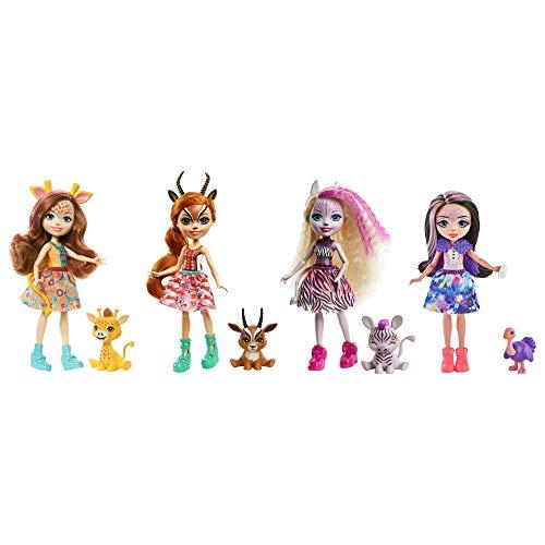 Set de 4 Enchantimals con mascotas y accesorios