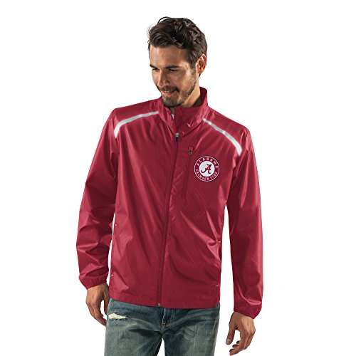 G-III Sports NCAA Alabama Crimson Tide Men's Storm Full Zip Packable Jacket, Medium, Cardinal (G-iii Jacket Mens)