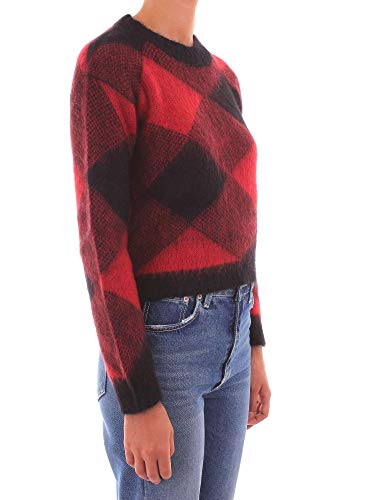Soft Buffalo Donna Brushed Diamond Mohair Red Maglia Woolrich In W's Crew Neck nPYqxZwB5