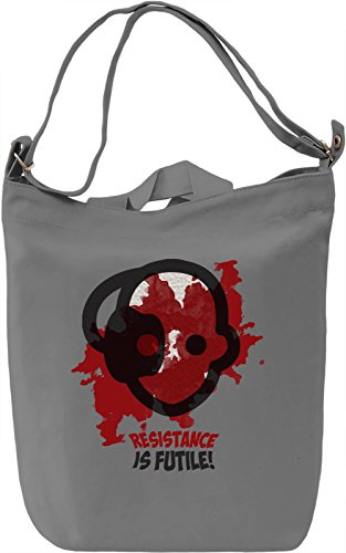 Resistance Is Futile Borsa Giornaliera Canvas Canvas Day Bag| 100% Premium Cotton Canvas| DTG Printing|