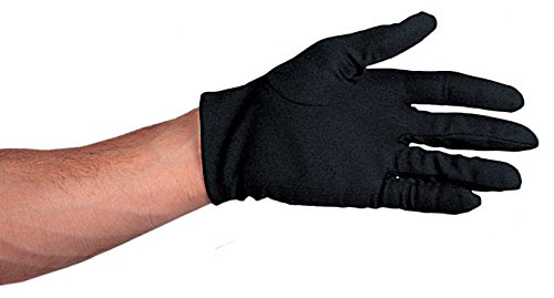 Costume Culture Women's Polyester Gloves Deluxe, Black, One Size (Deluxe Costume Gloves)