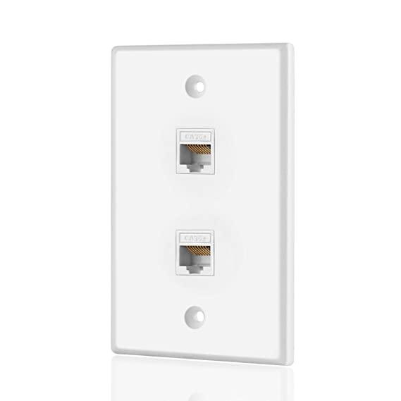 TNP Ethernet Netzwerk RJ45 Frontplatte: Amazon.de: Elektronik