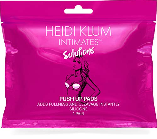 Heidi Klum Intimates Solutions Push Up Pads - Cleavage Boosting Silicone Padding - Adds One Size - Clear, One Size